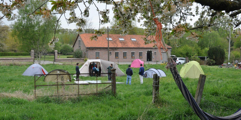 kamperen in de boomgaard